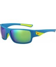 Cebe Whisper mat blauw lime 1500 grijze flash mirror groene zonnebril