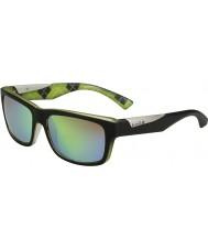 Bolle Jude mat zwart lime gepolariseerde bruin smaragd zonnebril
