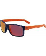 Cebe Dude glanzende blauwe oranje zonnebril