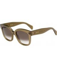Celine Ladies cl 41805-s qp4 z3 militaire groene zonnebril