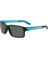 Cebe Dude mat zwart kristal blauwe zonnebril