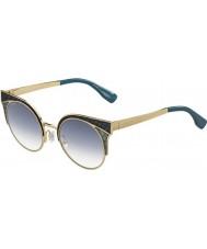 Jimmy Choo Ladies ora-s PSX U3 goud militaire groene zonnebril