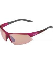 Bolle Breakaway glanzende roze grijze modulator steeg gun zonnebril