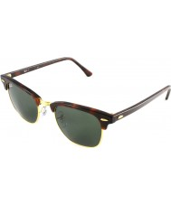 RayBan Rb3016 clubmaster mock schildpad - groen