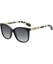 Kate Spade New York Ladies Julieanna-s anw f8 zwarte goud zonnebril