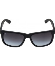 RayBan Rb4165 55 justin rubber zwart 601-8g zonnebril