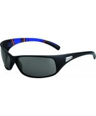 Bolle Recoil matte blauwe strepen modulator gepolariseerde grijze zonnebril