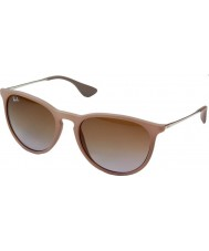 RayBan Rb4171 54 Erika donkere rubber zand 600.068 zonnebril