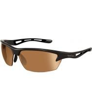 Bolle Bolt glanzende zwarte modulator v3 golf zonnebril