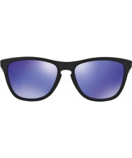 Oakley 24-298 Frogskins matzwart - violet iridium zonnebril