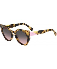 Fendi Facetten ff 0151-s 00F en gespot havana zonnebril