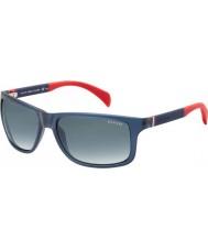 Tommy Hilfiger Th 1257-s 4nk jj blauwe rode zonnebril