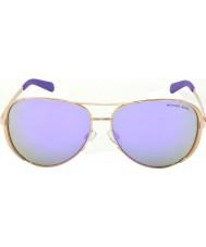 Michael Kors Mk5004 59 chelsea rose goud 10034v paars gespiegelde zonnebril