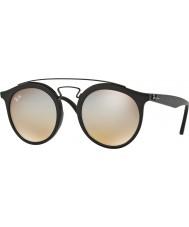 RayBan Rb4256 49 gatsby matzwart 6253b8 grijze spiegel zonnebril