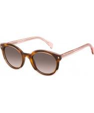 Tommy Hilfiger Ladies th 1437-s lq8 3x roze havana zonnebril